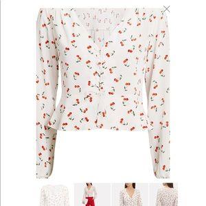 Intermix sienna cherry print blouse